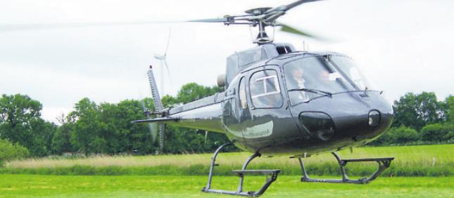 Mit einem Helikopter von Koopmann in die Luft gehen