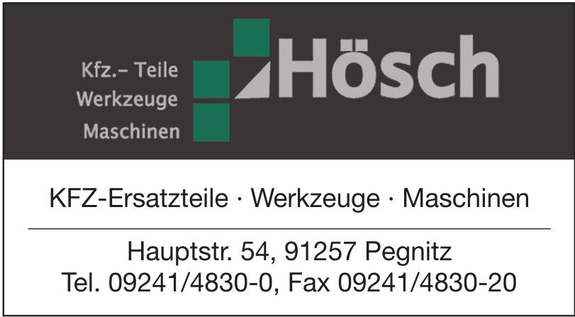 Hösch KFZ-Ersatzteile · Werkzeuge · Maschinen