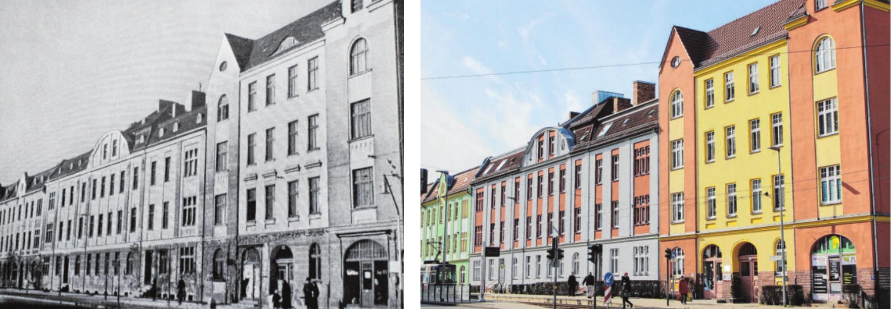 Einst und jetzt: Im Eckhaus in Leipziger Straße befinden sich heute die Geschäftsräume der BkW.