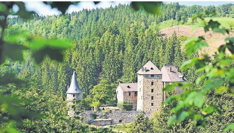 Burg Reinhardstein im Warchetal: Hinter diesen Mauern verbirgt sich eine stattliche Sammlung an Möbeln, Waffen und Wandteppichen. Foto: Pierre Pauquet