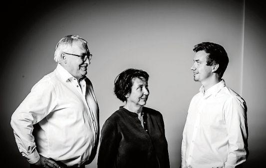 Die Geschäftsleitung der Firmengruppe Gfrörer: Uwe Gfrörer, Sabine Schüch, Tim Gfrörer (von links).
