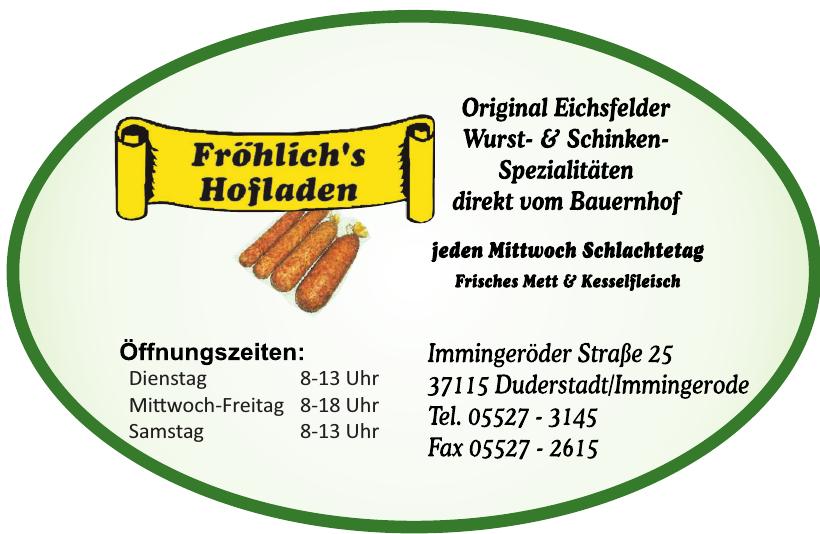 Fröhlich´s Hofladen
