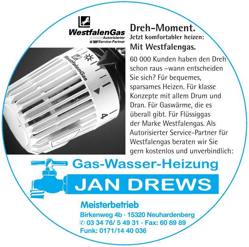 Jan Drews Gas-Wasser-Heizung