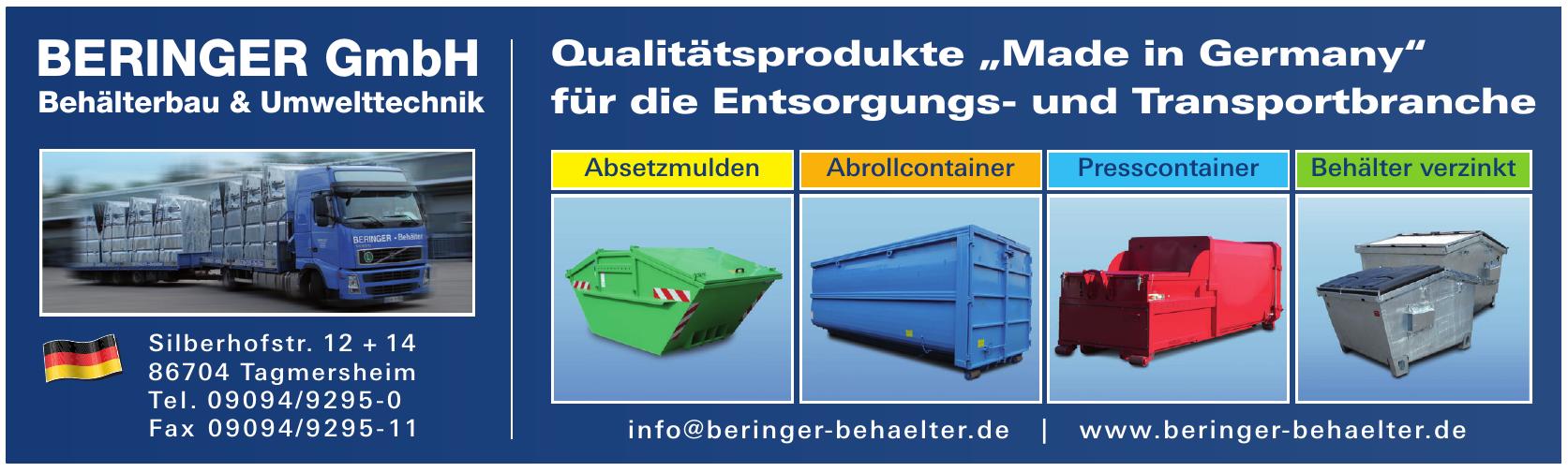 Beringer GmbH Behälterbau & Umwelttechnik
