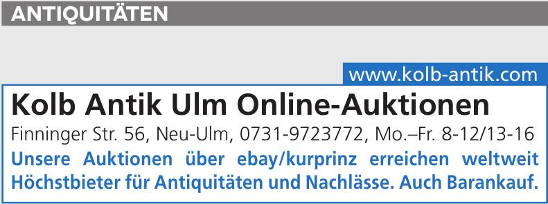 Kolb Antik Ulm Online-Auktionen