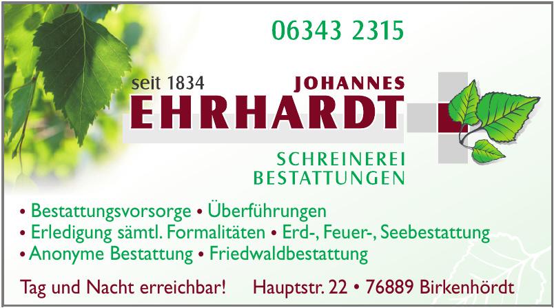 Johannes Ehrhardt Schreinerei Bestattungen
