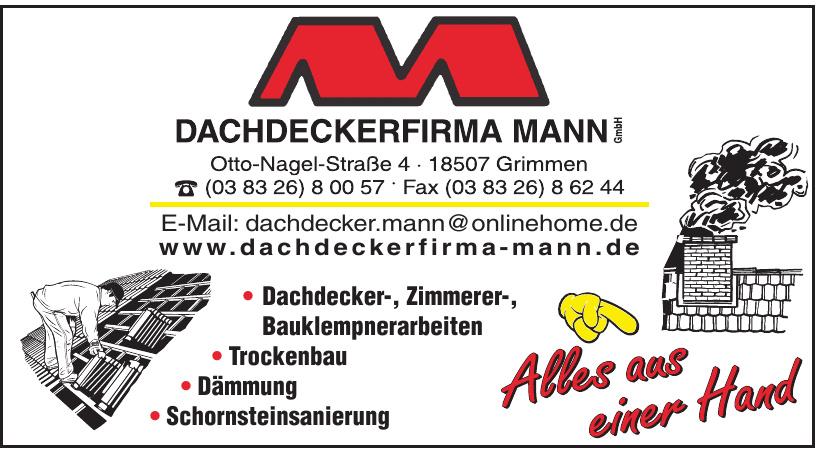 Dachdeckerfirma Mann GmbH