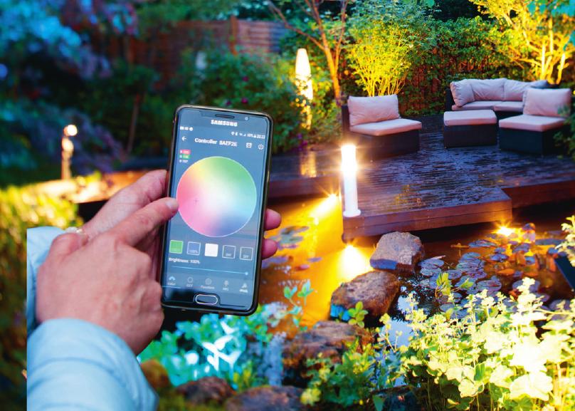 Per App Lichtfarbe und Farbwechsel einstellen. Foto: Heissner