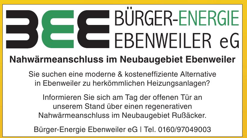 Bürger-Energie Ebenweiler eG