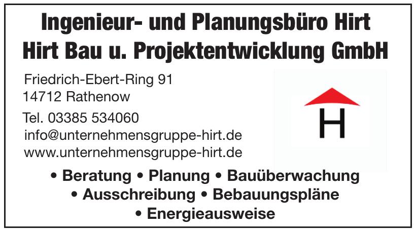 Ingenieur- und Planungsbüro Hirt - Hirt Bau u. Projektentwicklung GmbH