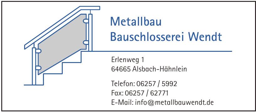 Metallbau Bauschlosserei Wendt