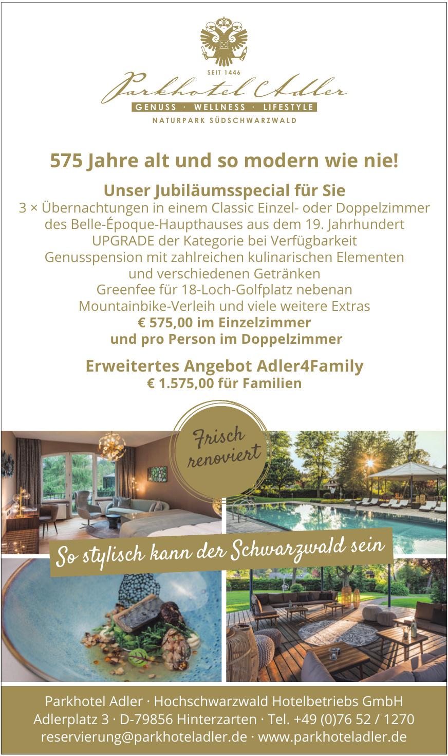 Parkhotel Adler · Hochschwarzwald Hotelbetriebs GmbH