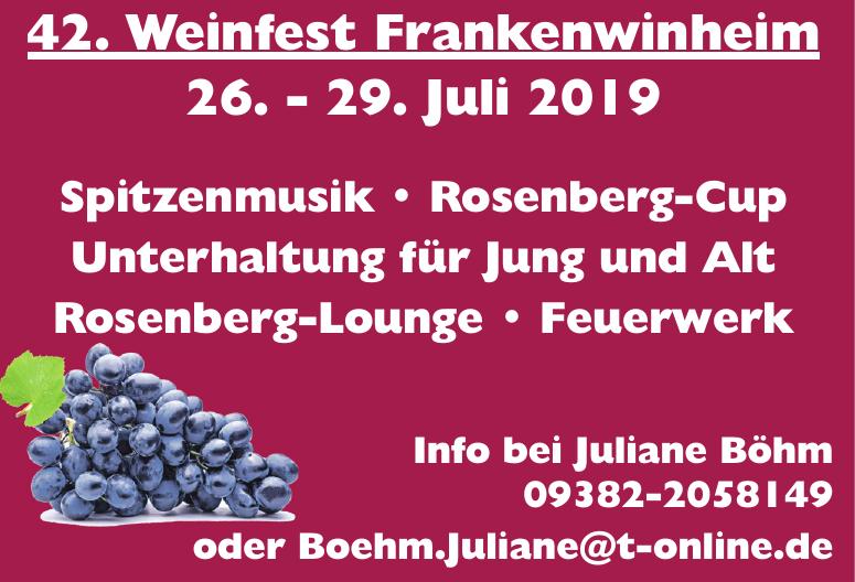 42. Weinfest Frankenwinheim