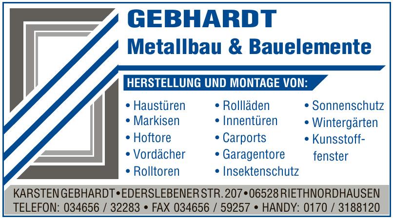 Gebhardt Metallbau & Bauelemente