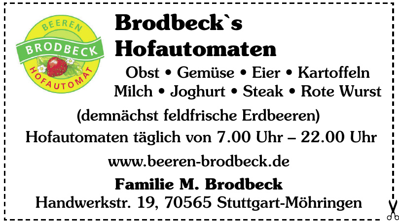 Brodbeck`s Hofautomaten