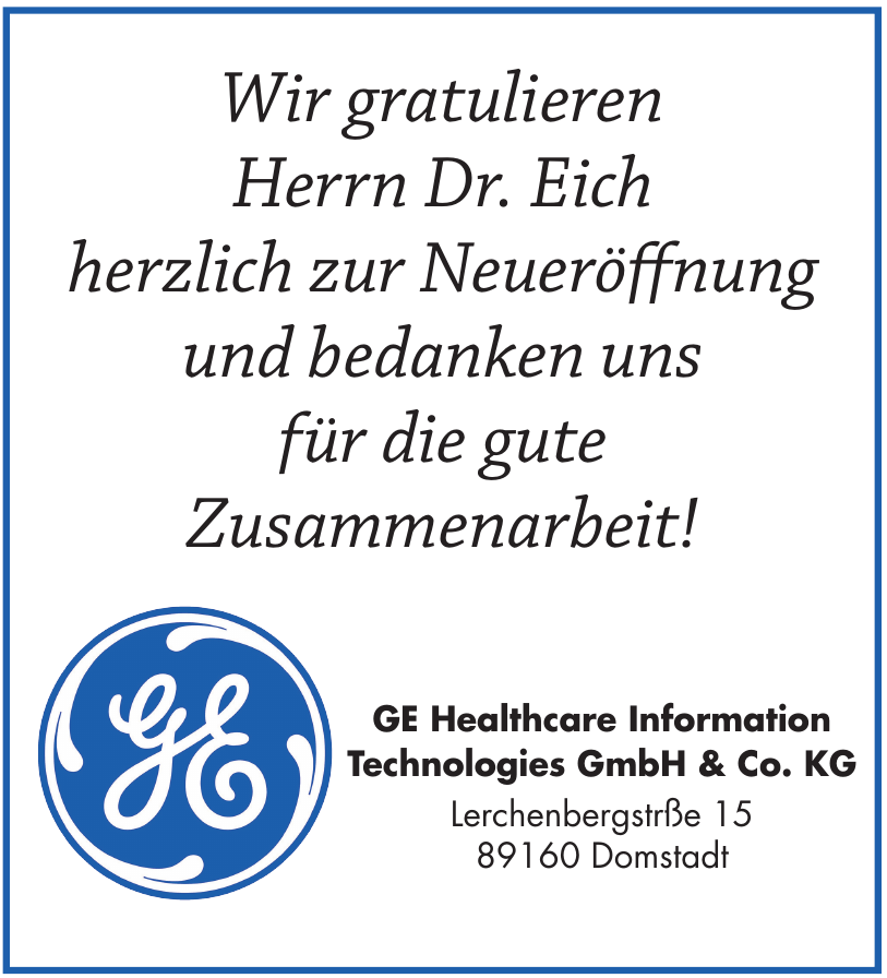 GE Healthcare Information Technologies GmbH & Co. KG
