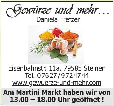 Gewürze und mehr . . . Daniela Trefzer