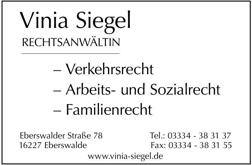 Vinia Siegel - Rechtsanwältin
