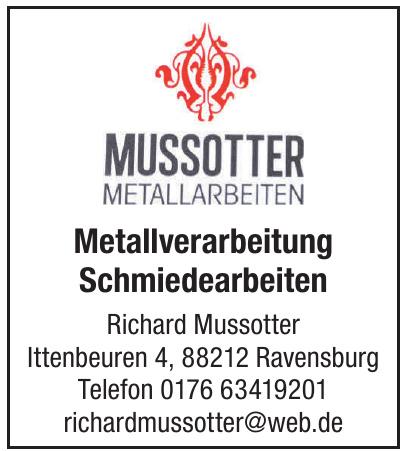 Metallarbeiten Mussotter