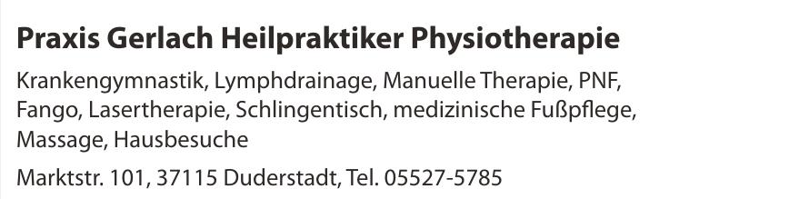 Praxis Gerlach Heilpraktiker Physiotherapie