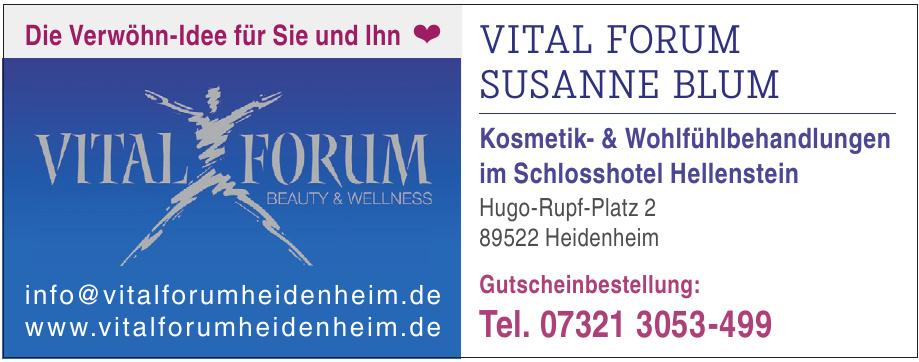 Vital Forum Susanne Blum