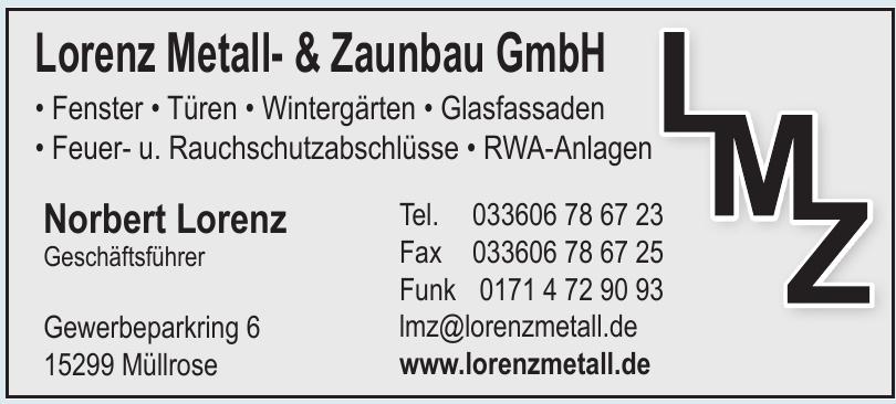 Lorenz Metall- & Zaunbau GmbH