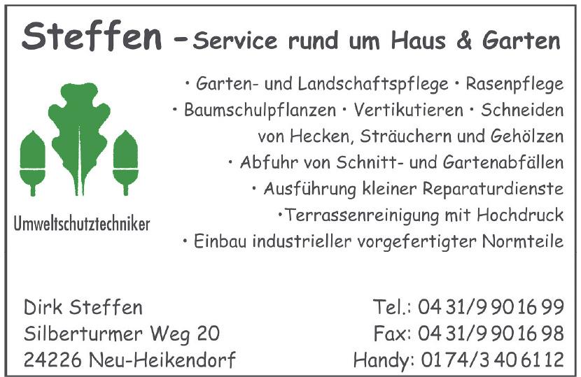 Umweltschutztechniker Steffen - Service rund um Haus & Garten
