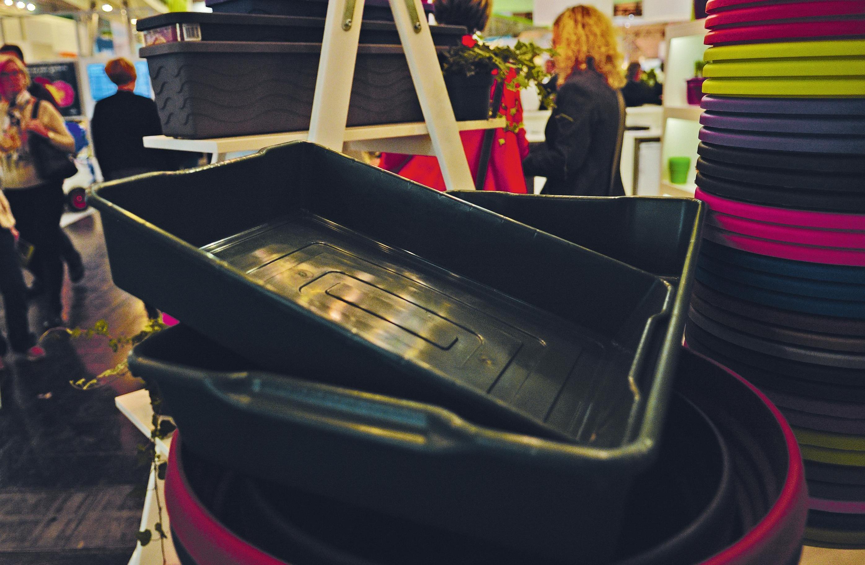 Die 2017 von Hawita vorgestellte Gärtnerboxx aus recyceltem Kunststoff ergänzt eine nur noch halb so große Version.
