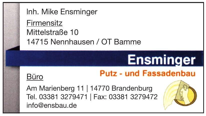lnh. Mike Ensminger