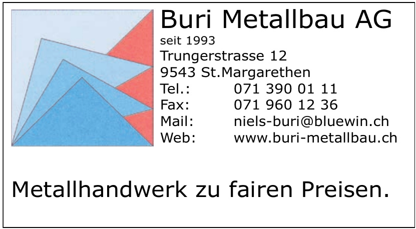 Buri Metallbau AG