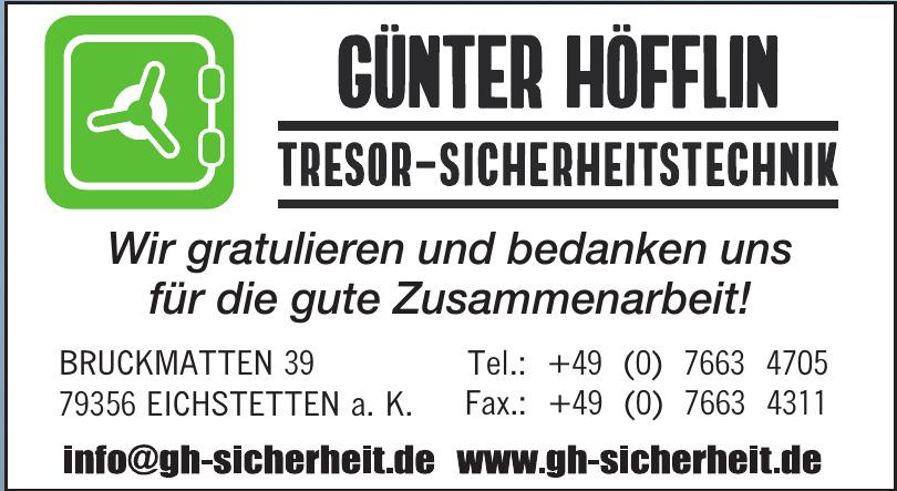 Günter Höfflin Tresor-Sicherheitstechnik