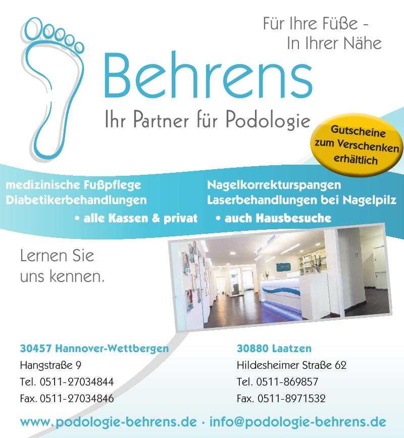 Podologiezentrum Behrens - Praxis für Podologie GmbH & Co KG