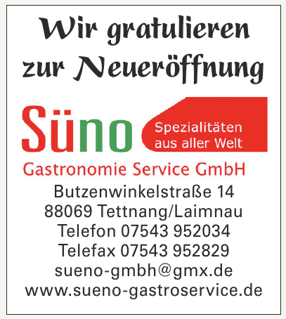 Süno Gastroservice GmbH