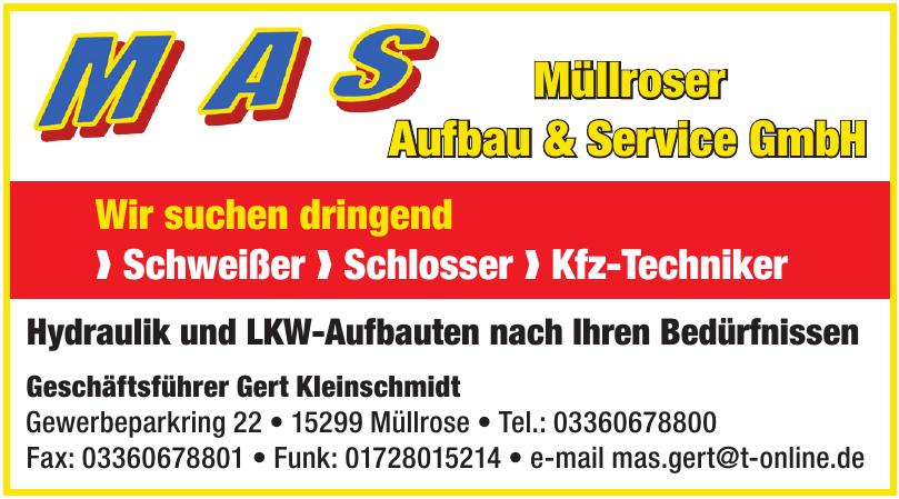 MAS Müllroser Aufbau & Service GmbH