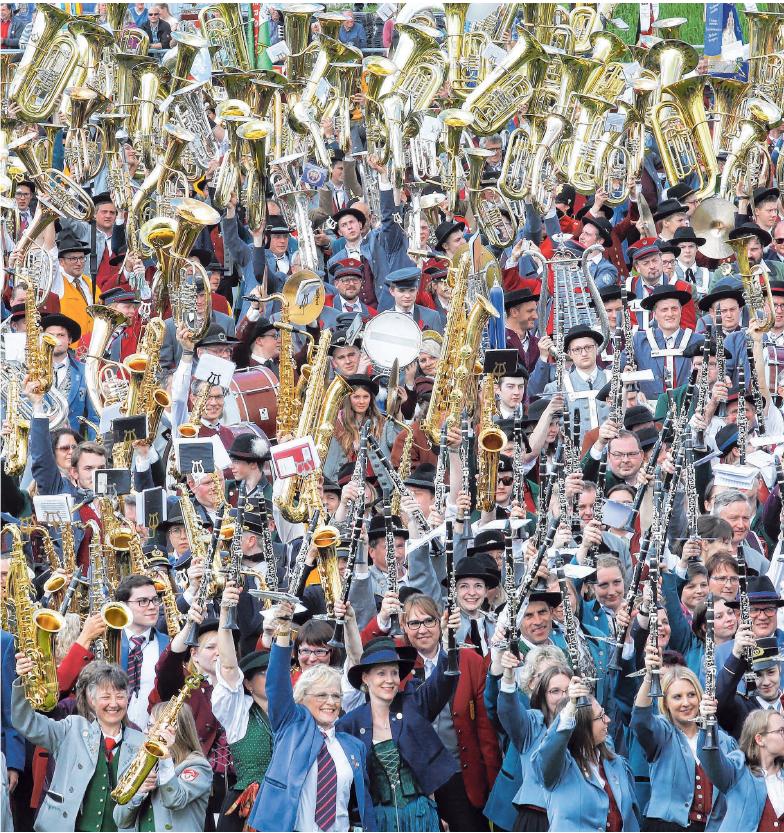 Das Jubiläumsjahr neigt sich dem Ende zu. Impressionen vom Kreismusikfest im Mai 2019. ARCHIVFOTO: THW