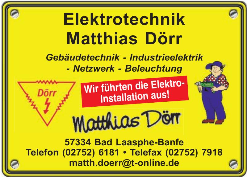 Elektrotechnik Matthias Dörr