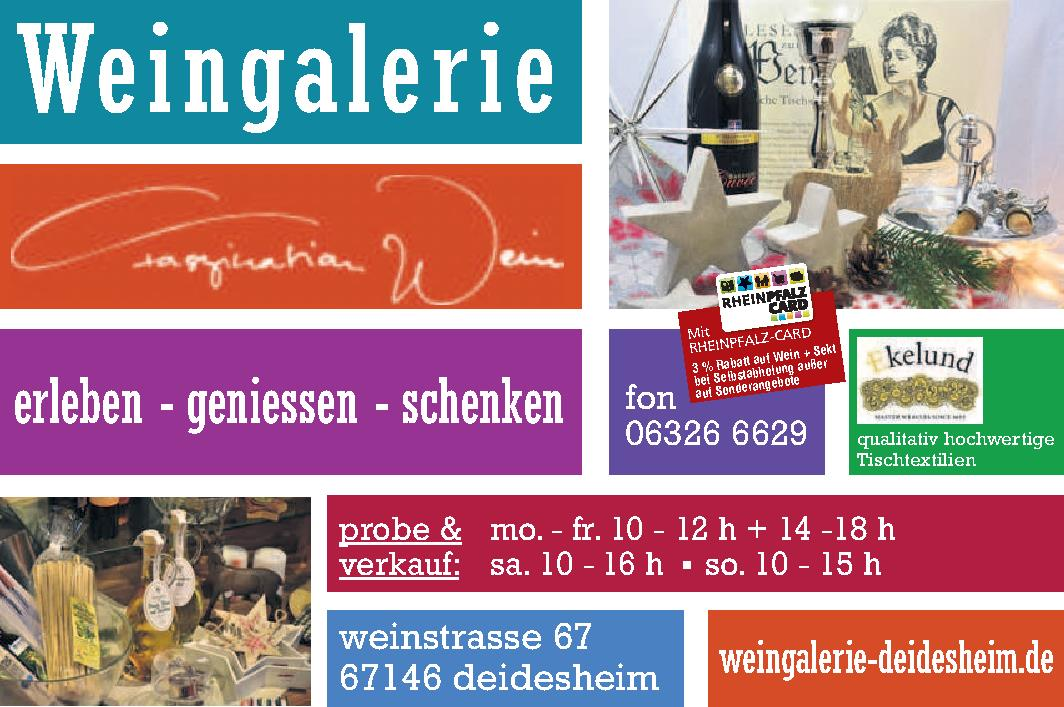 Weingalerie Erleben-Geniessen-Schenken