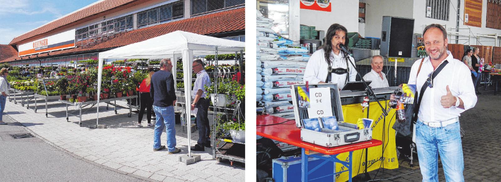 Im Frühsommer steht der Pflanzenmarkt im Schwabenpark im Mittelpunkt. Und zur Unterhaltung gibt's Musik.