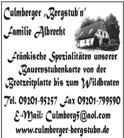 Culmberger Bergstuben Familie Albrecht