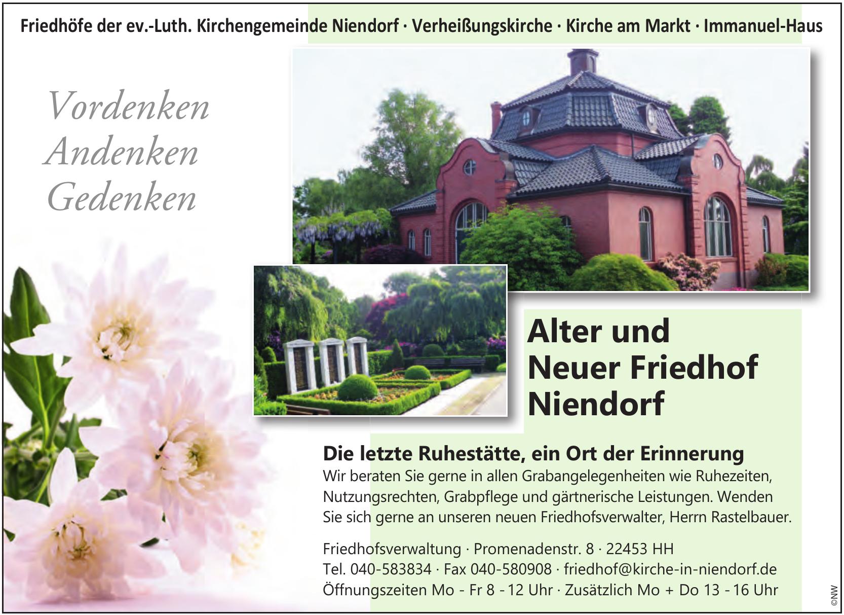 Friedhöfe der Ev.-Luth. Kirchengemeinde Niendorf