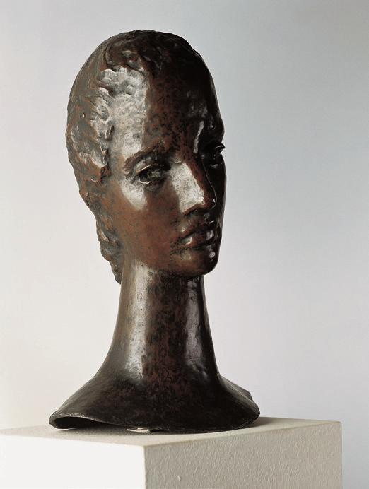 Wilhelm Lehmbruck, Kopf eines jungen Mädchens, 1913/14. Kunstmuseum Moritzburg Halle (Saale). Foto: © Kulturstiftung Sachsen-Anhalt, Wieland Krause