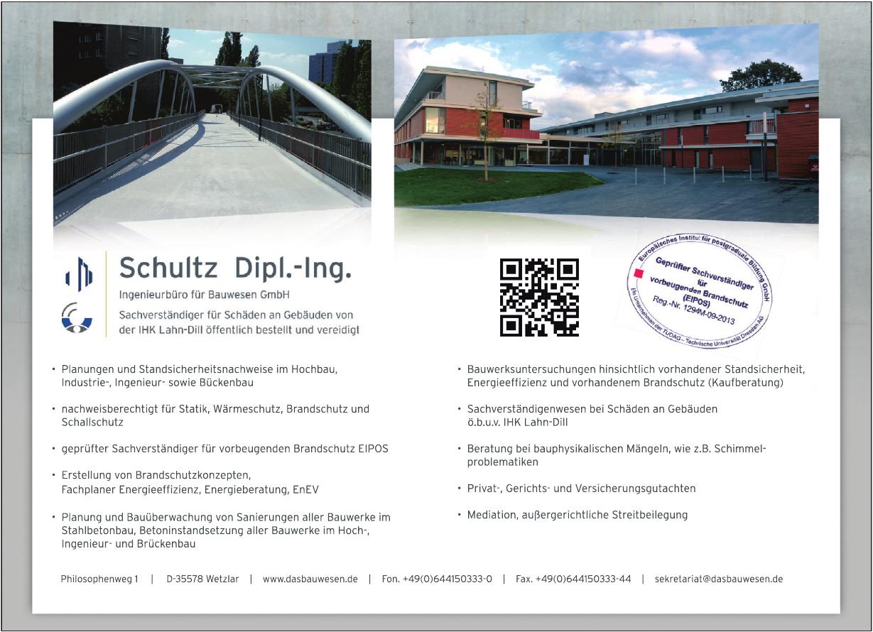 Dipl.-Ing. Ingo Schultz Ingenieurbüro für Bauwesen GmbH
