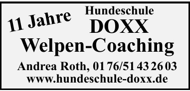 Hundeschule Doxx Welpen-Coaching