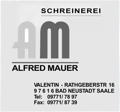 Schreinerei Alfred Mauer