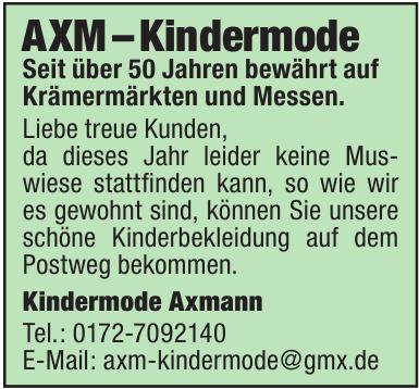 Kindermode Axmann