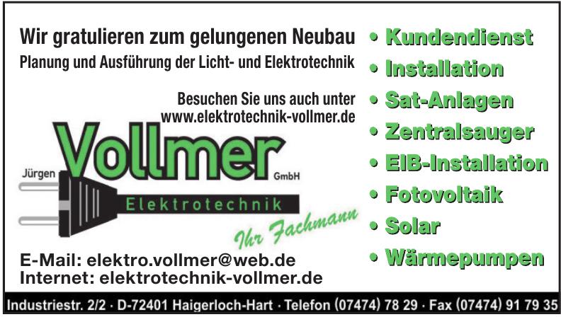 Jürgen Vollmer Elektrotechnik GmbH