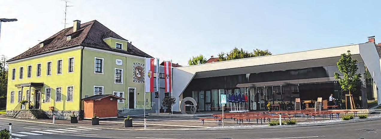 Der Neubau des Musikheims fand im Zuge einer Erweiterung des Gemeindeamts statt.