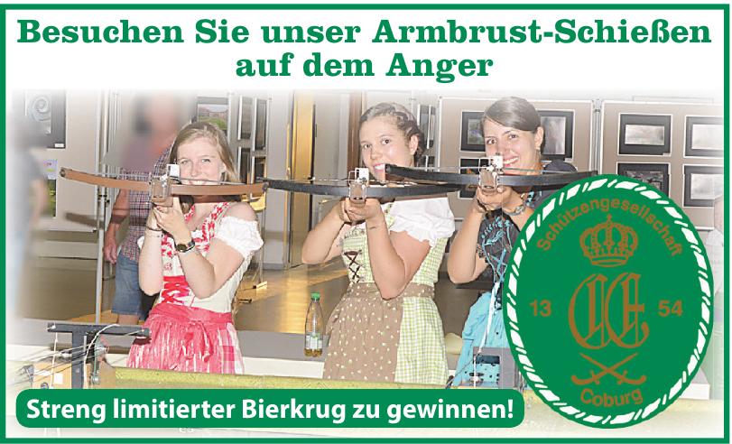 Armbrust-Schießen auf dem Anger