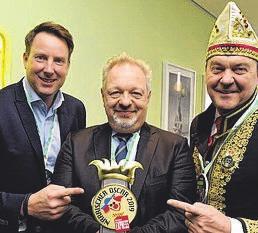 Christian Koke (Verlagsleiter Düsseldorf EXPRESS), Patric Fedlmeier (Vorstandsvorsitzender Provinzial Rheinland,) und CC-Geschäftsführer Hans-Jürgen Tüllmann (v. l.)