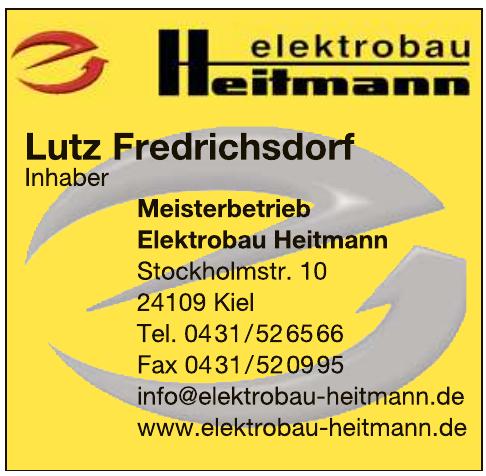 Meisterbetrieb Elektrobau Heitmann